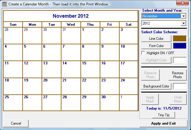 Photography Calendar Printing : Photo calendar printing software